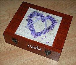 Krabičky - 12 priečinková krabica na čaj  levandulová - 5327825_