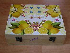 Krabičky - Citronová 12 priečinková krabica - 5330921_