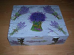 Krabičky - 12 priečinková krabica levandulová robila som na objednávku - 5335265_