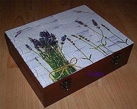 Krabičky - 12 priečinková krabica levandulová - 5337921_