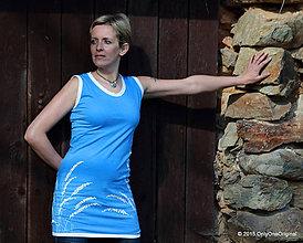 Šaty - Šaty úpletové bez rukávov, šité farbené a maľované DOBIELUČKA - 5339376_