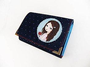 Peňaženky - Rozálka s růžičkou - peněženka i na karty 13 cm - 5350880_
