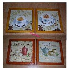 Obrázky - Capuccino ,espresso,tea a coffe v drevenom ráme - 5363303_