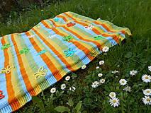 Textil - Detská deka rozkvitnutá lúka - 5366965_