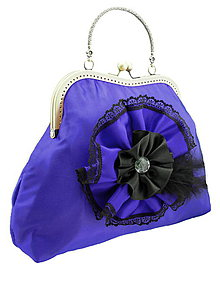 Kabelky - Spoločenská kabelka modrá 1110 - 5371761_
