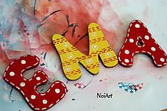 Tabuľky - Drevené písmenká EMA - 5370701_