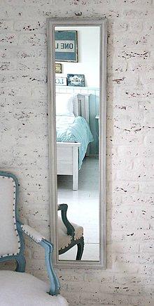 Zrkadlá - Zrkadlo Henrieta OLD WHITE 130x40cm - 5368417_