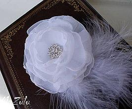 Ozdoby do vlasov - svadobný so štrasom - 5396570_