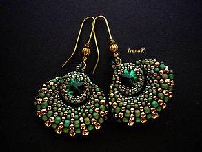 Náušnice - Taštička Emerald II. - 5404235_