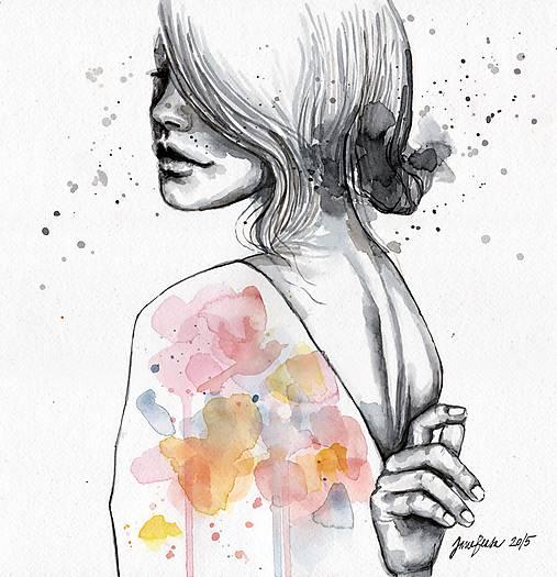 Obrazy - Implózia, akvarel - 5404027_