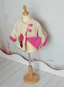 Detské oblečenie - Chlpatkový kabátik - 5407288_