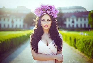 Ozdoby do vlasov - Veľká čelenka z kvetov magnólie. - 5412596_