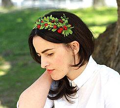 Ozdoby do vlasov - Zelená halúzka by Hogo Fogo - 5411411_