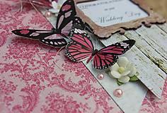 Papiernictvo - Svadobné motýle ružové. - 5413523_