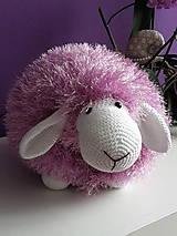 Úžitkový textil - Vankúšik ovečka - ružový - Ihneď k odberu - 5417591_
