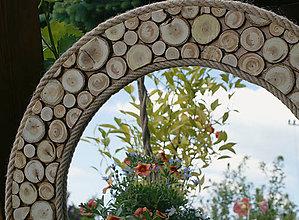 Zrkadlá - Zrkadlo - odrezky + špagát - 5424165_