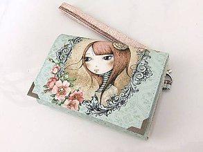 Peňaženky - Mirabelle I.-peněženka vyšívaná rokajlem s poutkem - 5426797_