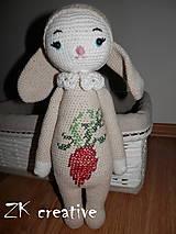 Hračky - lalylala -zajačica RITA - mrkvičková - 5431091_