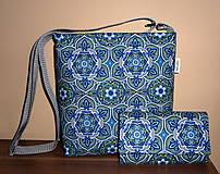 Kabelky - Taška s peňaženkou - Modro-zelený sen. - 5430792_