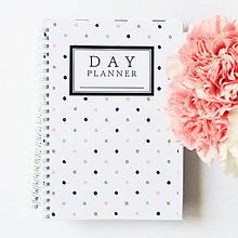 Papiernictvo - day planner // pastel dots - 5453867_
