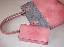 Peňaženky - Peňaženka - Ružové kvety. - 5453228_