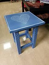 Nábytok - Stolček modrý s bodkami - 5457055_