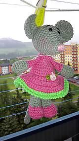Hračky - Myšička - ružová Ihneď k odberu - 5464599_
