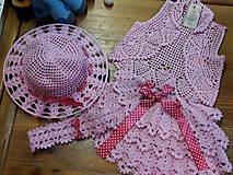Detské súpravy - Súpravička - čelenka, klobúčik, bolerko a suknička - 5464628_