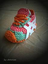 Topánočky - Háčkované