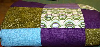 Úžitkový textil - Patchworková deka/prehoz - country line - 5465062_
