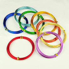 Suroviny - hliníkový drôt farebný - 5466461_