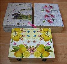 Krabičky - 12 priečinková krabica nielen levandulová robila som na objednávku - 5469395_