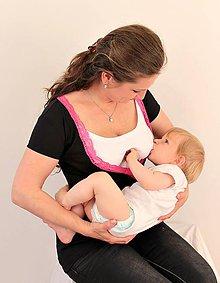 Tehotenské oblečenie - 3v1 tričko pre tehotné, dojčiace, nedojčiace - kr. rukav - 76 farieb - 5471093_