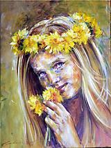 Obrazy - Dievča s púpavou 2015 - 5470498_