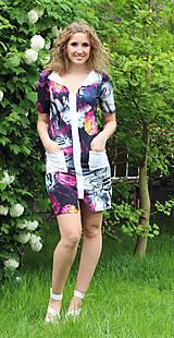 Šaty - Květované minišaty - 5474490_