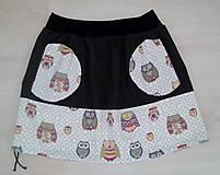 Sukne - Sovičková sukně s kapsama - 5474477_