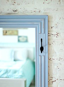 Zrkadlá - Veľké zrkadlo CAROLINA BLUE 132x58cm - 5473730_