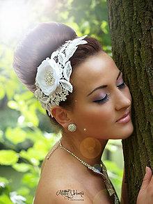 Ozdoby do vlasov - svadobný hrebienok II. - 5484525_