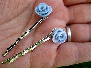 Ozdoby do vlasov - Svetlomodré ružičky - sponky 2ks č.177 - akcia - 5488982_