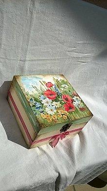 Krabičky - lúčne kvetinky - 5535648_