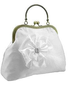 Kabelky - Kabelka pre nevestu,biela svadobná kabelka 0055A - 5543706_