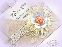 Papiernictvo - Lososová ruža plná lásky... - 5543177_