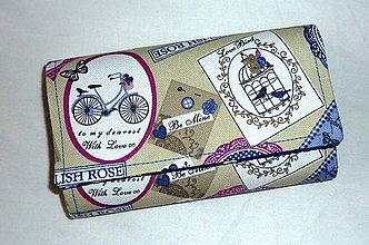 Peňaženky - Peňaženka - Anglické ruže. - 5541874_