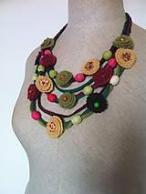 Náhrdelníky - Textilný náhrdelník pestrofarebný 1 - 5545349_