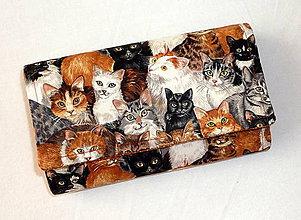 Peňaženky - Peňaženka - Mačičkový svet. - 5545105_
