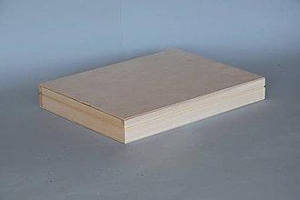 Polotovary - Drevená krabica S0001 - 5550020_