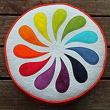 Úžitkový textil - Květinové posezení v červené - 5571233_