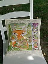 Úžitkový textil - Vankúšik Líštička - 5573896_