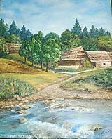 Obrazy - Potok v skanzene - 5572606_
