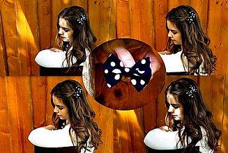 Ozdoby do vlasov - Bodkáče - Tmavomodrá bodka - 5573318_